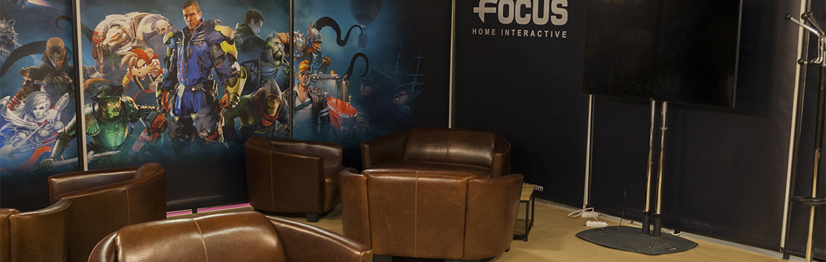 Focus booth at Game Connection Europe 2016
