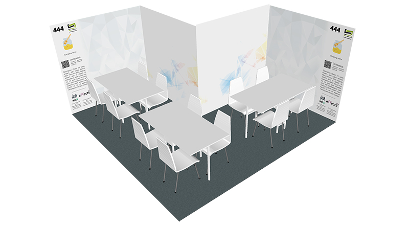 12 sqm booth