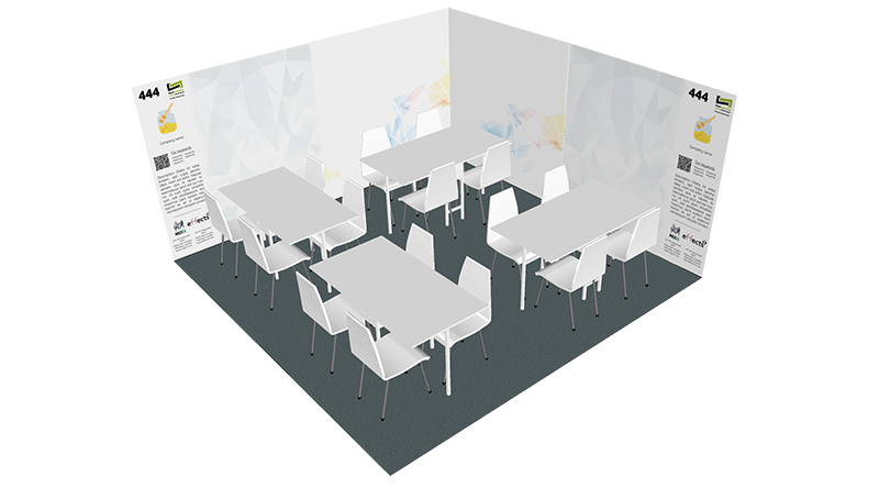16 sqm booth
